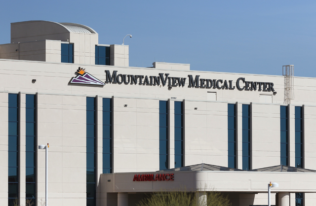 Mountain View Medical Center is shown Friday, March 4, 2016, in Las Vegas. Ronda Churchill/Las Vegas Review-Journal