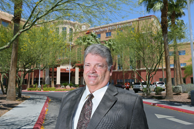 Kim Anderson, chief executive officer of Southern Hills Hospital, stands in the front of Southern Hills Hospital Thursday, May 28, 2015, in Las Vegas. Anderson has been the CEO of Southern Hills H ...