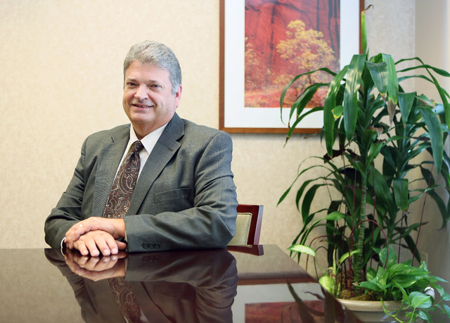 Kim Anderson, chief executive officer of Southern Hills Hospital, sits in his office at Southern Hills Hospital Thursday, May 28, 2015, in Las Vegas. Anderson has been the CEO of Southern Hills Ho ...
