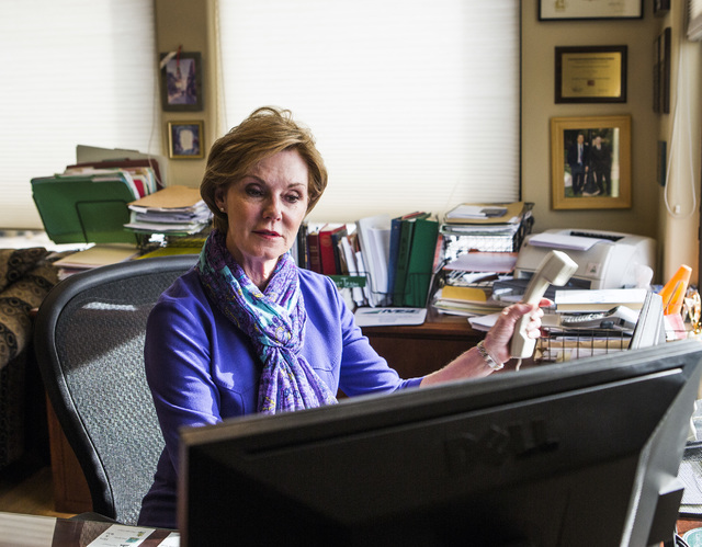 Carol Cline-Ong, founder and principal of MDL Group, sits in her office on Monday, Nov. 28, 2016. Jeff Scheid/Las Vegas Review-Journal Follow @jlscheid