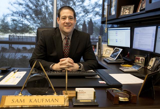 Henderson Hospital CEO Sam Kaufman in his office at Henderson Hospital in Henderson on Wednesday, Nov. 30, 2016. (David Guzman/Las Vegas Review-Journal) Follow @DavidGuzman1985