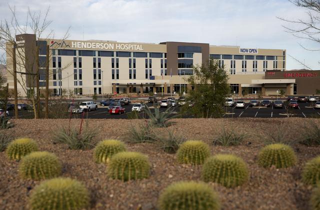 Henderson Hospital located on 1050 Galleria Drive in Henderson on Wednesday, Nov. 30, 2016. (David Guzman/Las Vegas Review-Journal) Follow @DavidGuzman1985