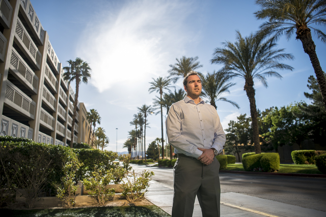 Chris Connelly, founder of one of the first approved entity betting businesses in Nevada, poses for a photo near the Strip in Las Vegas on Wednesday, May 11, 2016. Joshua Dahl/Las Vegas Review-Journal