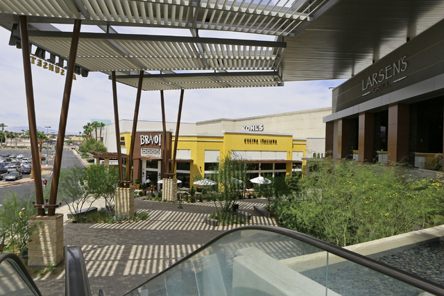 An escalator that would take shoppers from an upper parking lot to a lower entrance to Galleria at Sunset mall is shown on Thursday, June 4, 2015, in Henderson. Galleria at Sunset, which has expan ...