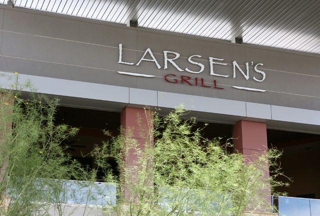 A sign for Larsen's Grill is shown at Galleria at Sunset mall Thursday, June 4, 2015, in Henderson. Galleria at Sunset, which has expanded to just over 1 million square feet since it opened in 199 ...