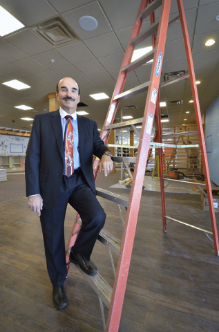 George Garcia, president of consulting firm G.C. Garcia, is shown at a Dotty's property under renovation on the site of the former Terrible's Town Casino and Bowl at 642 S. Boulder Highway in Hend ...