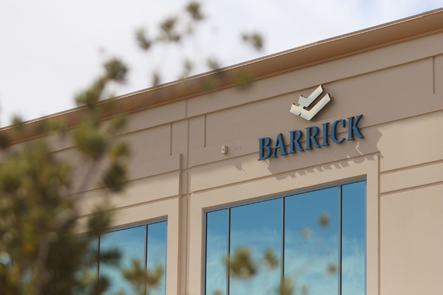 Barrick Gold Corporation is shown at 2270 Corporate Circle suite 100, Wednesday, Oct. 12, 2016, in Henderson. Ronda Churchill/Las Vegas Review-Journal