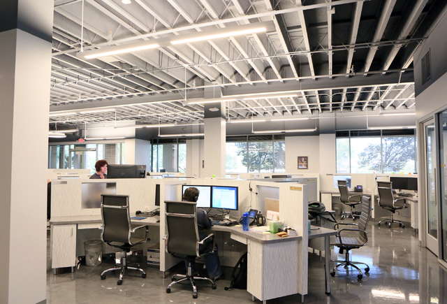 Employees work in an IT area at Barrick Gold Corporation, located at 2270 Corporate Circle suite 100, Wednesday, Oct. 12, 2016, in Henderson. Ronda Churchill/Las Vegas Review-Journal