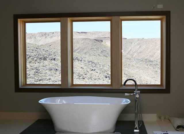 A master bath is shown under construction in a 12,000-square-foot custom-built luxury home located in MacDonald Highlands exclusive gated golf course community Tuesday, June 2, 2015, in Henderson. ...