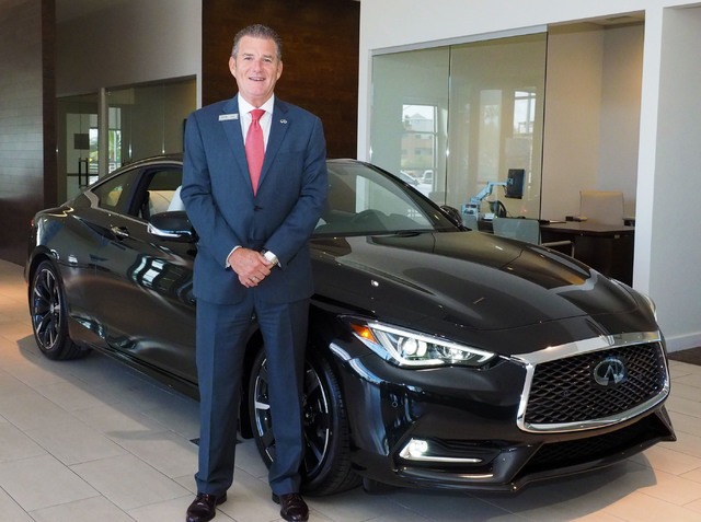 General Manager Rob Schweizer poses with the new Infinity Q60 coupe at Park Place Infiniti in Las Vegas, Tuesday, Sept. 20, 2016. Jerry Henkel/Las Vegas Review-Journal