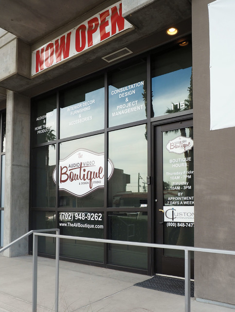 Audio Visual Boutique is now open at The Promenade at Juhl in downtown Las Vegas. (Jerry Henkel/Las Vegas Business Press)