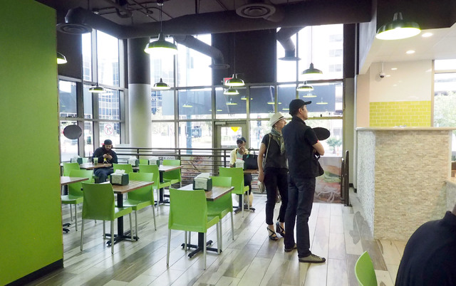 Greens & Proteins is one of the corner anchor stores at The Promenade at Juhl. (Jerry Henkel/Las Vegas Business Press)
