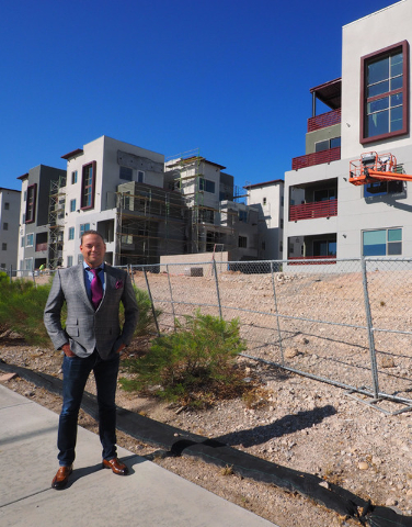 The Calida Group Managing Director Eric Cohen poses for a photo at the new luxury apartment complex Constellation in Downtown Summerlin, Tuesday, Aug. 30, 2016. Jerry Henkel/Las Vegas Review-Journal.