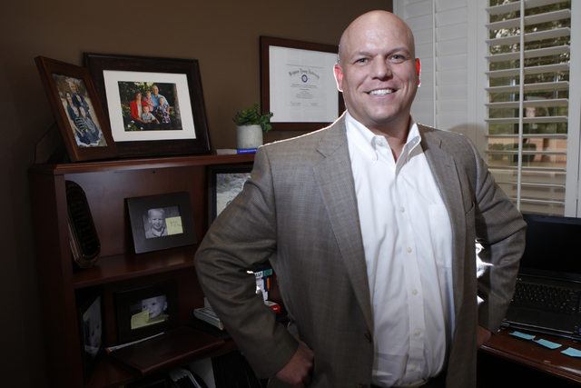 Bryce Wisan, president of the Nevada CPA Society chapter, poses for a portrait at his office in Las Vegas Tuesday, Oct. 7, 2014. Wisan is the manager of the Wisan, Smith, Racker & Prescott LLP in  ...