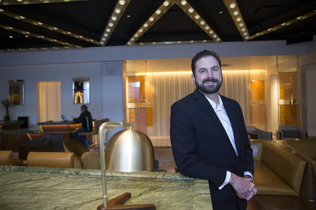 General manager Mark Eberwein at the W Las Vegas hotel on Friday, Jan. 6, 2017, in Las Vegas. Erik Verduzco/Las Vegas Review-Journal Follow @Erik_Verduzco