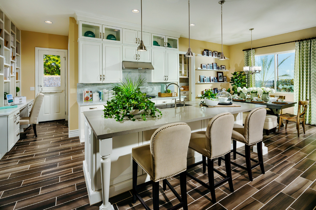 "Until Toll Brothers has a model up at Regency, it is pointing prospective buyers to the Trapani Home Design at the company's Montecito community in Summerlin. ""Regency will not have this exact flo ..."