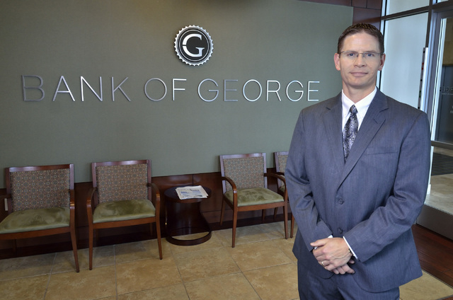 T. Ryan Sullivan, president and CEO of Bank of George, is shown at the bank at 9115 W. Russell Road in Las Vegas on Monday, April 11, 2016. Bill Hughes/Las Vegas Review-Journal