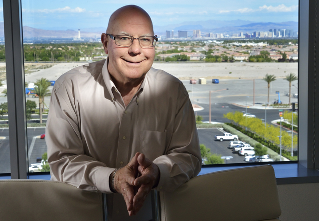 Attorney Peter Bernhard will be honored June 7 by the Anti-Defamation League. He is pictured at the law offices of Kaempfer Crowell in Summerlin. Bill Hughes/Las Vegas Review-Journal