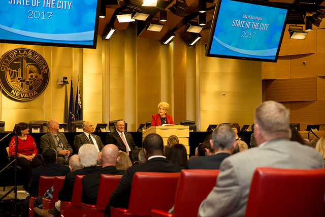 Las Vegas Mayor Carolyn Goodman gives State of the City address