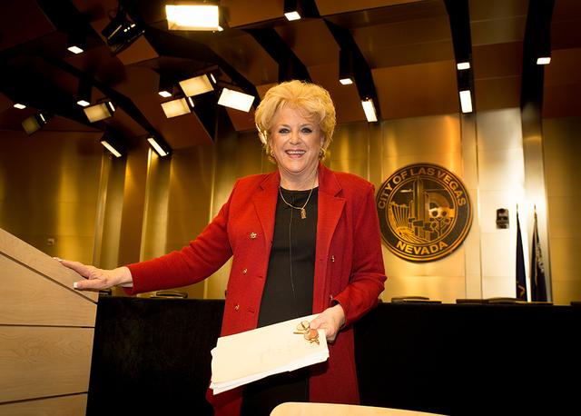 TONYA HARVEY/LAS VEGAS BUSINESS PRESS Las Vegas Mayor Carolyn Goodman gave her annual State of the City address Jan. 12 in the City Council Chambers.