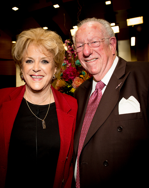 Former Las Vegas Mayor Oscar Goodman came to her his wife, Las Vegas Mayor Carolyn Goodman, State of the City. (TONYA HARVEY/LAS VEGAS BUSINESS PRESS)