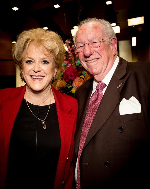 Former Las Vegas Mayor Oscar Goodman came to her his wife, Las Vegas Mayor Carolyn Goodman, State of the City. (TONYA HARVEY/LAS VEGAS BUSINESS PRESS)