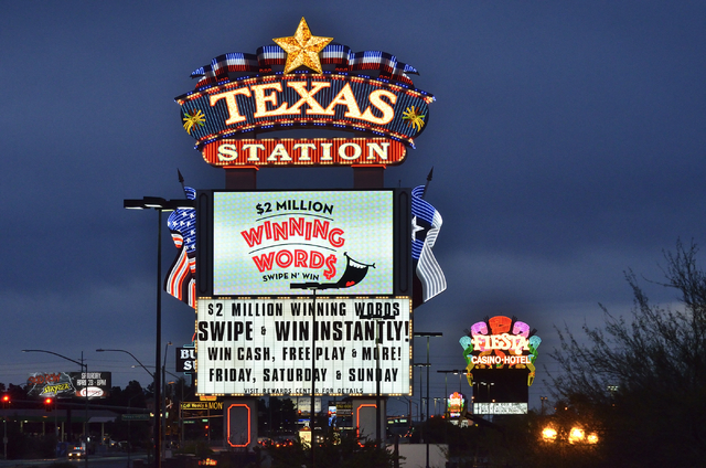 The Texas Station and Fiesta hotel-casinos are shown on North Rancho Drive in Las Vegas on Thursday, April 7, 2016. Bill Hughes/Las Vegas Review-Journal