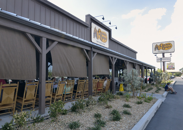 The exterior of Cracker Barrel is shown at 8350 Dean Martin Drive in Las Vegas on Friday, Aug. 5, 2016. Bill Hughes/Las Vegas Review-Journal