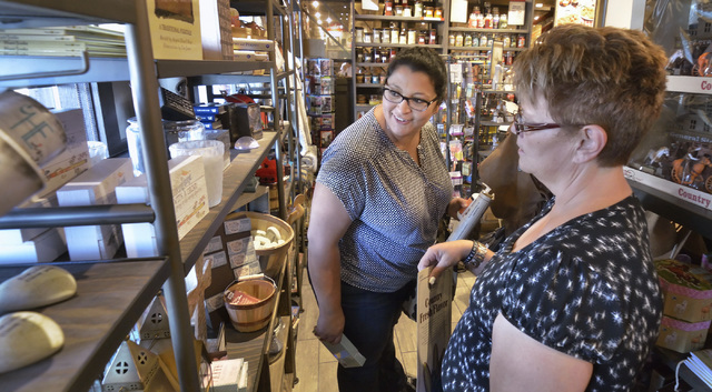 Carlie MacArthur, left, and Susanne Villagracia shop in the store at Cracker Barrel at 8350 Dean Martin Drive in Las Vegas on Friday, Aug. 5, 2016. Bill Hughes/Las Vegas Review-Journal