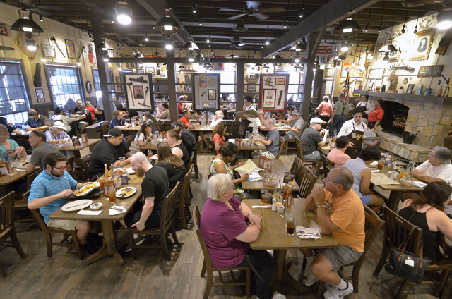 The restaurant at Cracker Barrel is shown at 8350 Dean Martin Drive in Las Vegas on Friday, Aug. 5, 2016. Bill Hughes/Las Vegas Review-Journal