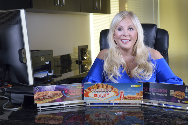 Donna Curry, development agent and franchisee with Subway, is shown in her office at 3031 W. Horizon Ridge Parkway in Henderson on Monday, June 13, 2016. Bill Hughes/Las Vegas Review-Journal