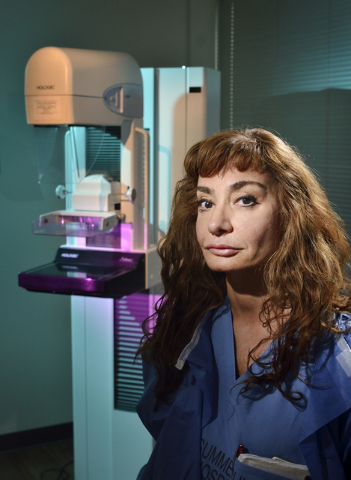 Dr. Souzan El-Eid is shown at the Breast Care Center in Summerlin Hospital at 657 N. Town Center Drive in Las Vegas on Wednesday, May 25, 2016. Bill Hughes/Las Vegas Business Press