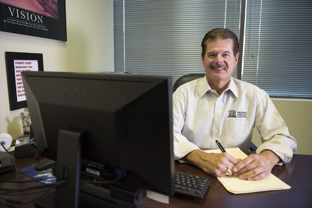 Rick Piette, manager of Premier Mortgage Lending, sits in his Henderson office, Monday, Aug. 15, 2016. Jason Ogulnik/Las Vegas Review-Journal