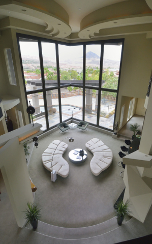 The interior of a client's home represented by Gene Northup, Las Vegas franchisee for Synergy Sotheby's International Realty, is shown at Lake Las Vegas in Henderson on Thursday, Aug. 4. Bill  ...