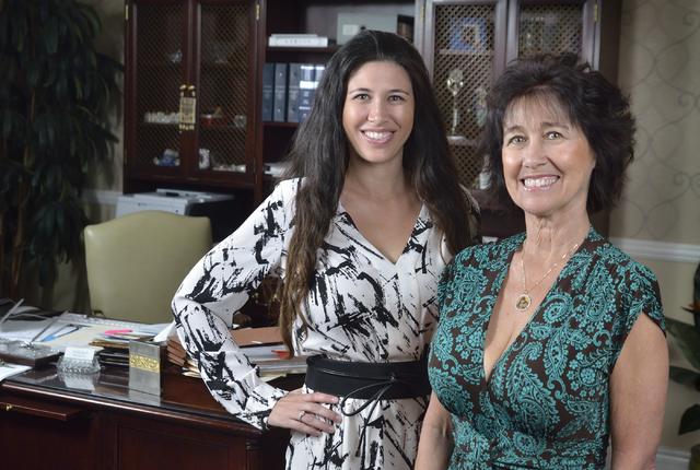 "Israel ""Ishi"" Kunin, right, works with her daughter, Shoshana Kunin-Leavitt, at the Kunin Law Group on East Bonanza Road in Las Vegas. Bill Hughes/Las Vegas Business Press"