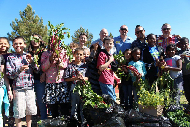COURTESY  Create a Change Now operates 18 school gardens and have impacted more than 13,800 kids by handing out more than 22,500 pounds of fruits and veggies