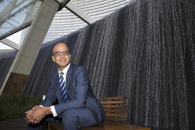 Erik Verduzco/Las Vegas Business Press Yalmaz Siddiqui, vice president of corporate sustainability for MGM Resorts International.