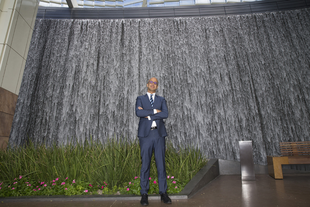 Yalmaz Siddiqui, vice president of corporate sustainability for MGM Resorts International, is photographed at the Aria hotel-casino on Friday, Oct. 14, 2016, in Las Vegas. Erik Verduzco/Las Vegas  ...