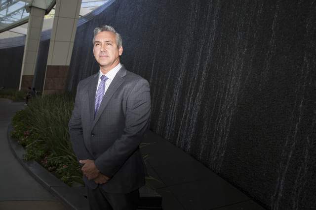 Chris Magee, vice president of sustainability facilities, is photographed at the Aria hotel-casino on Friday, Oct. 14, 2016, in Las Vegas. Erik Verduzco/Las Vegas Review-Journal Follow @Erik_Verduzco