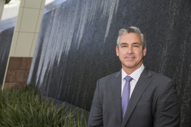 Chris Magee, vice president of sustainability facilities, is photographed at the Aria hotel-casino on Friday, Oct. 14, 2016, in Las Vegas. Erik Verduzco/Las Vegas Review-Journal Follow @Erik_Verduzco