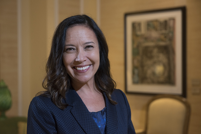 Chief Human Resources Officer Michelle DiTondo of MGM Resorts International poses for a portrait at the Bellagio hotel-casino in Las Vegas on Monday, Aug. 22, 2016. Martin S. Fuentes/Las Vegas Rev ...
