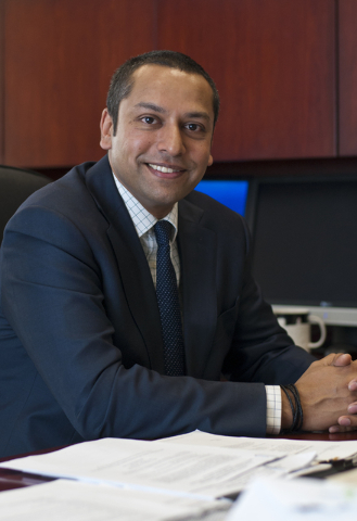 Sharath Chandra, the new administrator of the Real Estate Division of the Department of Business and Industry, poses for a photo inside his office in Las Vegas on Thursday, Aug. 25, 2016. Daniel C ...