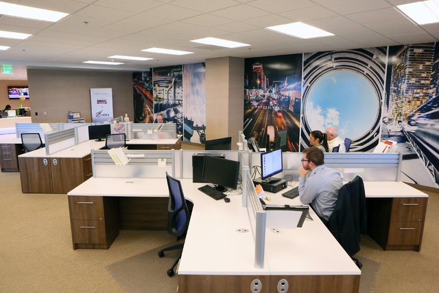 Employees work at Las Vegas Global Economic Alliance, located at 6720 Via Austi Pkwy. Suite 330, Thursday, April 14, 2016, in Las Vegas. Ronda Churchill/Las Vegas Review-Journal