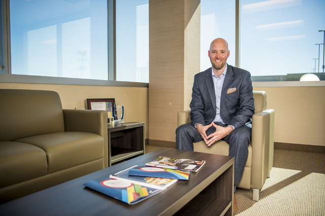 Jonas Peterson, CEO of the Las Vegas Global Economic Alliance, is building a powerhouse board with big goals. The 60-year-old group recently moved into new space on Via Austi Parkway. Joshua Dahl/ ...