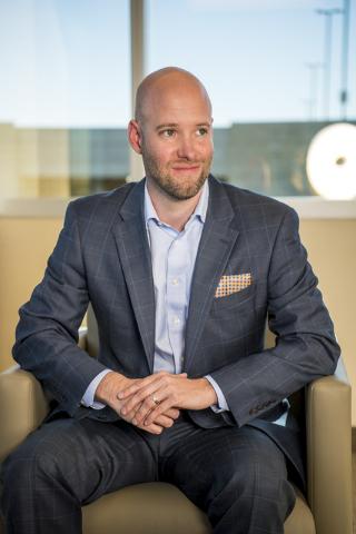 Jonas Peterson, CEO of the Las Vegas Global Economic Alliance, poses for a photo in his office at 6720 Via Austi Pkwy. Suite 330, in Las Vegas on Monday, April 18, 2016. Joshua Dahl/Las Vegas Revi ...
