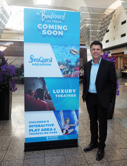 Roland Sansone poses for a photo at the Boulevard Mall in Las Vegas, Monday, Nov. 14, 2016. Jerry Henkel/Las Vegas Review-Journal