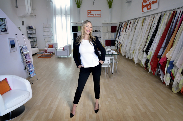 Mona Steck, head designer and owner of Settings by Mona, found success moving from the runway to designing table linens.  Bill Hughes/Las Vegas Business Press