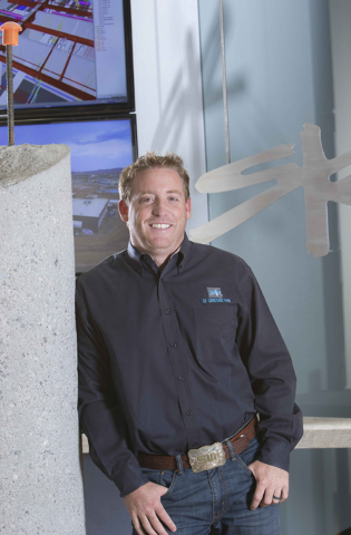 Bret Loughridge, vice president of operations for SR Construction, is shown at his Las Vegas office on Friday, Aug. 5, 2016. Richard Brian/Las Vegas Review-Journal Follow @vegasphotograph