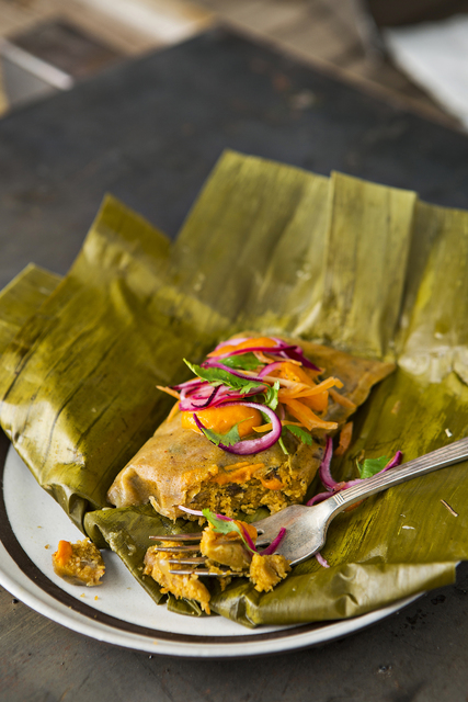 Lorena Garcia's braised pork on plantain leaf. The still-developing CHICA menu will feature dishes from throughout Central and South America. Photo: Courtesy.
