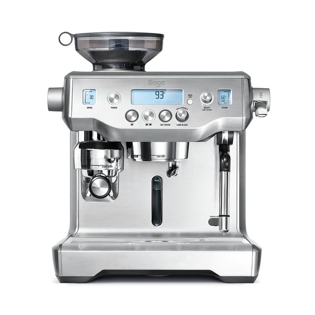 Breville Oracle espresso, latte and cappuccino maker, $1,9995.95; available from Bed Bath & Beyond, Macy's, Sur La Table and Williams-Sonoma